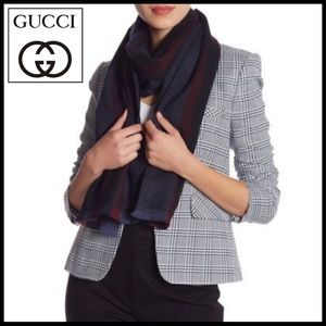 GUCCI striped wool scarf. Gorgeous hues for Fall.